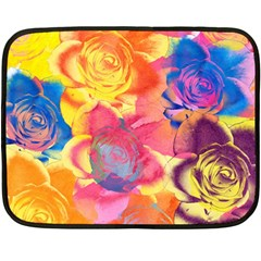 Pop Art Roses Fleece Blanket (Mini)