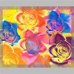 Pop Art Roses Canvas 20  x 16  20  x 16  x 0.875  Stretched Canvas