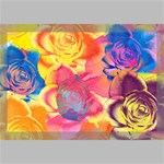 Pop Art Roses Canvas 18  x 12  18  x 12  x 0.875  Stretched Canvas
