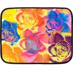 Pop Art Roses Double Sided Fleece Blanket (Mini)  35 x27 Blanket Back