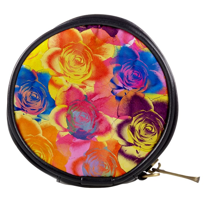 Pop Art Roses Mini Makeup Bags