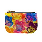 Pop Art Roses Mini Coin Purses Front