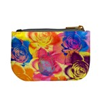 Pop Art Roses Mini Coin Purses Back