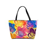 Pop Art Roses Shoulder Handbags Front