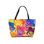 Pop Art Roses Shoulder Handbags Back