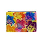 Pop Art Roses Cosmetic Bag (Medium)  Front