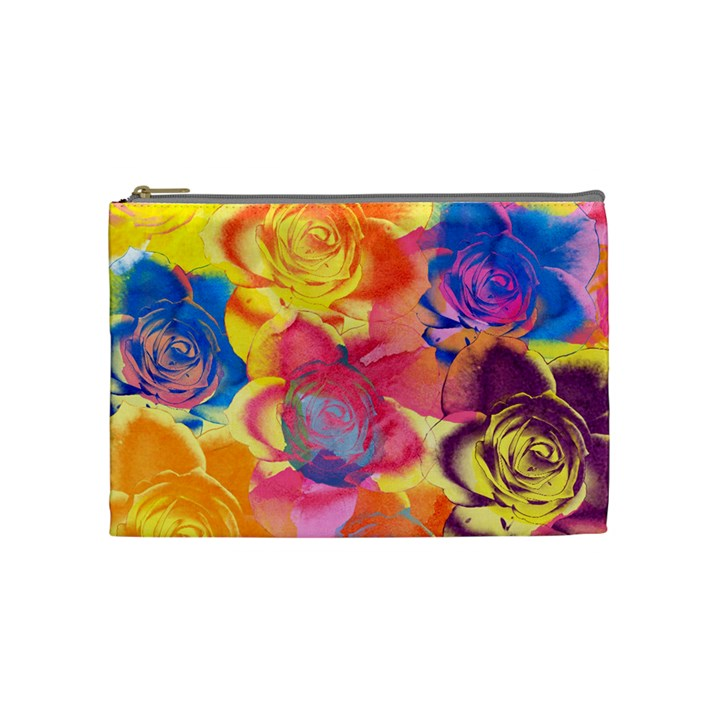 Pop Art Roses Cosmetic Bag (Medium)