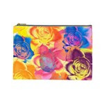 Pop Art Roses Cosmetic Bag (Large)  Front