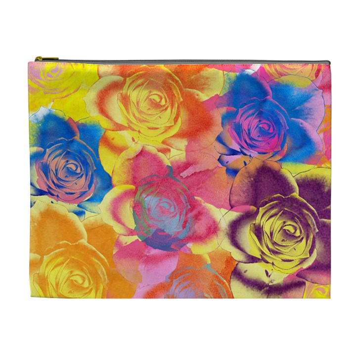 Pop Art Roses Cosmetic Bag (XL)