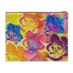 Pop Art Roses Cosmetic Bag (XL) Back