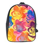 Pop Art Roses School Bags(Large)  Front