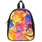 Pop Art Roses School Bags (Small)  Front
