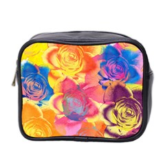 Pop Art Roses Mini Toiletries Bag 2 Side
