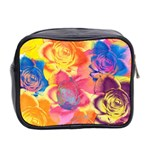 Pop Art Roses Mini Toiletries Bag 2-Side Back