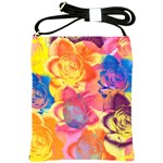 Pop Art Roses Shoulder Sling Bags Front