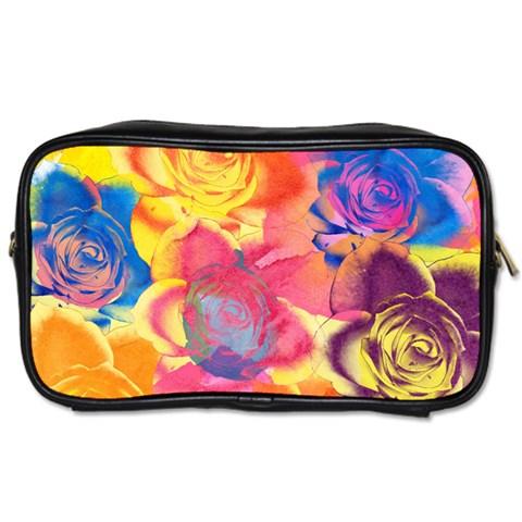 Pop Art Roses Toiletries Bags 2-Side