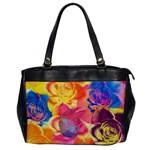 Pop Art Roses Office Handbags Front