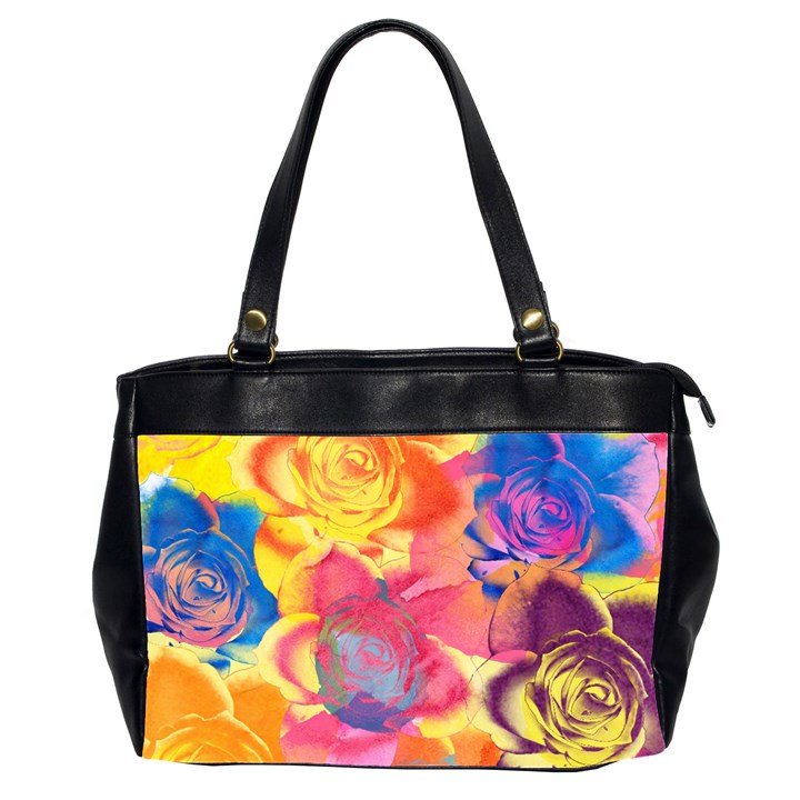 Pop Art Roses Office Handbags (2 Sides)