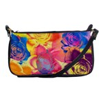 Pop Art Roses Shoulder Clutch Bags Front