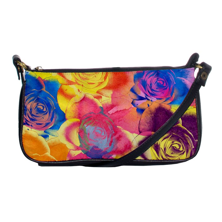 Pop Art Roses Shoulder Clutch Bags