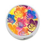 Pop Art Roses 4-Port USB Hub (One Side) Front