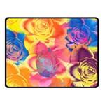Pop Art Roses Fleece Blanket (Small) 50 x40 Blanket Front