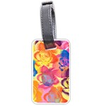 Pop Art Roses Luggage Tags (Two Sides) Front