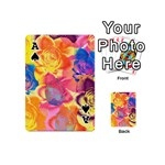 Pop Art Roses Playing Cards 54 (Mini)  Front - SpadeA