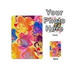 Pop Art Roses Playing Cards 54 (Mini)  Front - Heart3