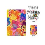 Pop Art Roses Playing Cards 54 (Mini)  Front - Diamond10