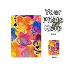Pop Art Roses Playing Cards 54 (Mini)  Front - Spade7