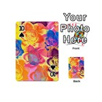 Pop Art Roses Playing Cards 54 (Mini)  Front - Spade10