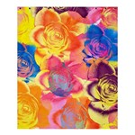 Pop Art Roses Shower Curtain 60  x 72  (Medium)  54.25 x65.71 Curtain