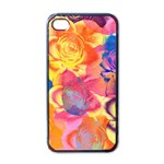 Pop Art Roses Apple iPhone 4 Case (Black) Front