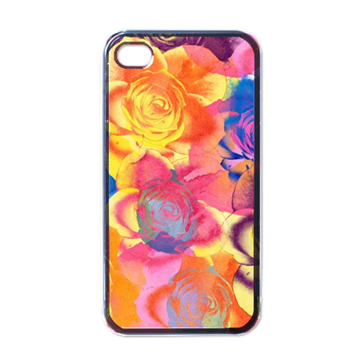 Pop Art Roses Apple iPhone 4 Case (Black)