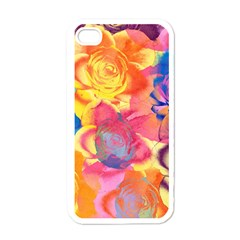 Pop Art Roses Apple iPhone 4 Case (White)