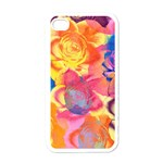 Pop Art Roses Apple iPhone 4 Case (White) Front