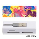 Pop Art Roses Memory Card Reader (Stick)  Front