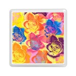 Pop Art Roses Memory Card Reader (Square)  Front