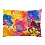 Pop Art Roses Pillow Case (Two Sides) Back