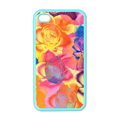 Pop Art Roses Apple iPhone 4 Case (Color)