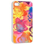 Pop Art Roses Apple iPhone 4/4s Seamless Case (White) Front