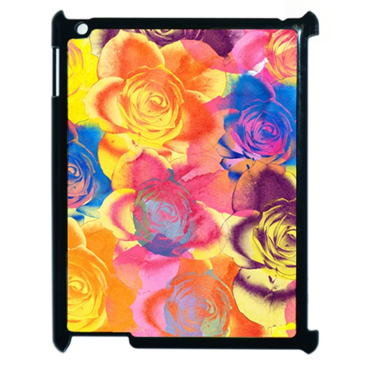 Pop Art Roses Apple iPad 2 Case (Black)
