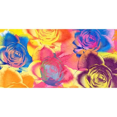 Pop Art Roses YOU ARE INVITED 3D Greeting Card (8x4)