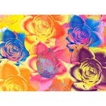 Pop Art Roses Peace Sign 3D Greeting Card (7x5) Back