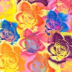 Pop Art Roses Best Wish 3D Greeting Card (8x4) Inside
