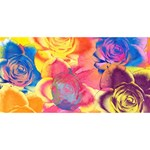 Pop Art Roses Happy New Year 3D Greeting Card (8x4) Back