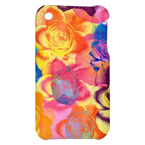 Pop Art Roses Apple iPhone 3G/3GS Hardshell Case