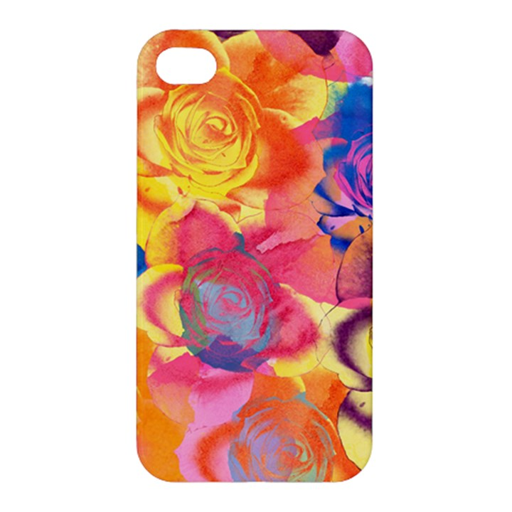 Pop Art Roses Apple iPhone 4/4S Hardshell Case