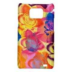Pop Art Roses Samsung Galaxy S2 i9100 Hardshell Case
